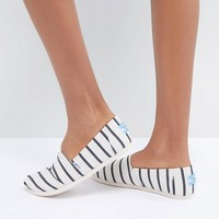 TOMS Alpargata Rivera Stripe Canvas Shoes at asos.com