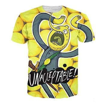 Adventure Time  The Earl of Lemongrab All-Over Print Sublimated Cotton Yellow T-Shirt