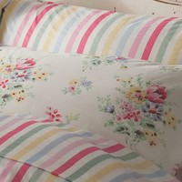 Cath Kidston Sherbert Stripe standard pillowcase - House of Fraser
