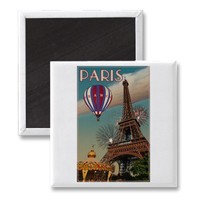Vintage Eiffel Tower Refrigerator Magnets from Zazzle.com