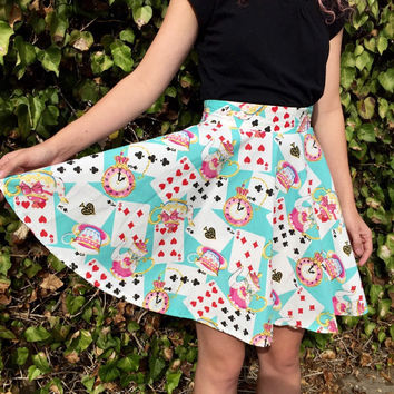 Wonderland inspired Disneybounding circle skirt