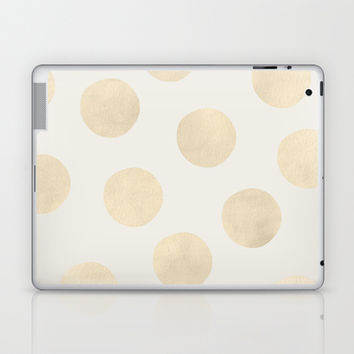 Gold Polka Dots Laptop & iPad Skin by Georgiana Paraschiv