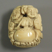 Elaborate Carved Netsuke Toggle  // from Successionary