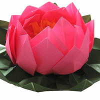 Lotus Paper Flower Water Lily Origami Lotus for Wedding Table Setting Decor