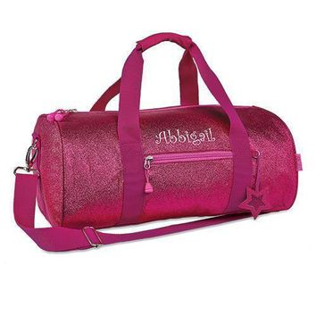 Personalized Kids Glitter Duffle Bag - Pink (Pack of 1)
