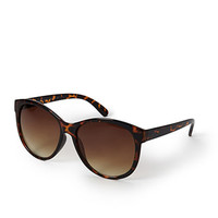 FOREVER 21 Easy Cat-Eye Sunglasses Brown/Brown One