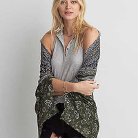 AEO Printed Cocoon , Olive
