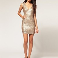 TFNC | TFNC Sequin Dress with Mesh Inserts at ASOS