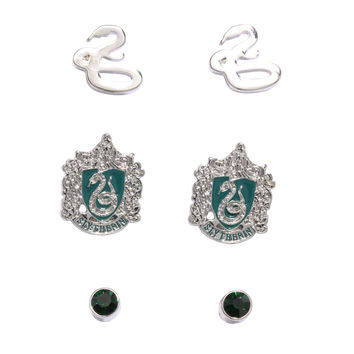 Harry Potter Slytherin Earring Set
