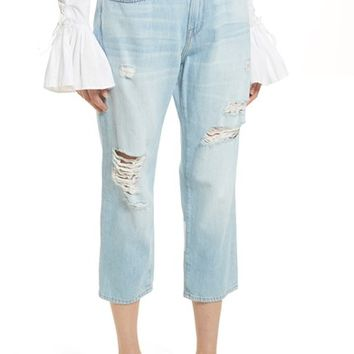 FRAME Le Stevie Distressed Crop Jeans (Forton) | Nordstrom