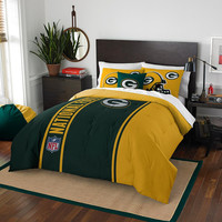 Green Bay Packers NFL Full Comforter Set (Soft & Cozy) (76 x 86)