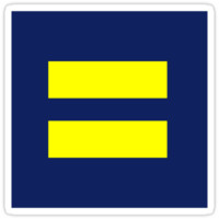'Human Rights Campaign - equality sticker' Sticker by rosiesokoll