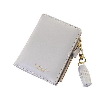 Wallet for Women Cute Leather Coin Purse for Girls Small Tassel Card Holder