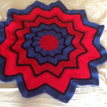 Handmade Crochet Spiderman baby Boy stroller Blanket PATTERN in PDF file.