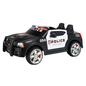 Kid Trax Dodge Charger Police Car Electric Ride-On (Black)