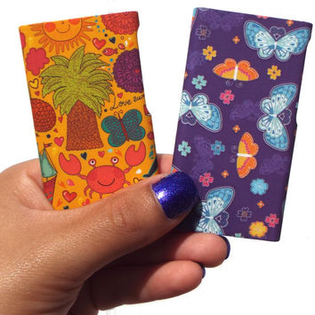 Clique Fashion Case Shell (2 Pack) for iPod nano 7th Generation (Sunny shore / Butterfly dreams) - Fabulously Stylish Accessories for Girls