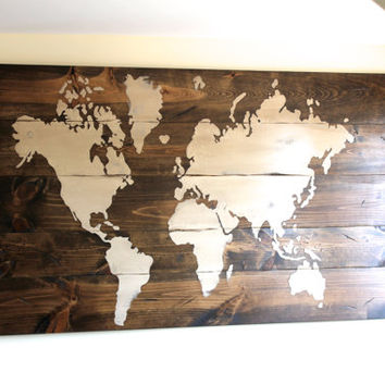 World Map Wood Wall Art best wooden world map products on wanelo