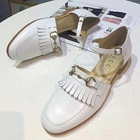GUCCI Women Fashion Leather Casual Sandals Shoes