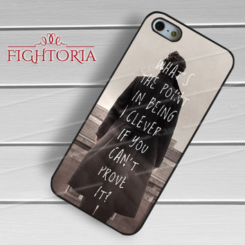 sherlock quotes detective-yah for iPhone 6S case, iPhone 5s case, iPhone 6 case, iPhone 4S, Samsung S6 Edge