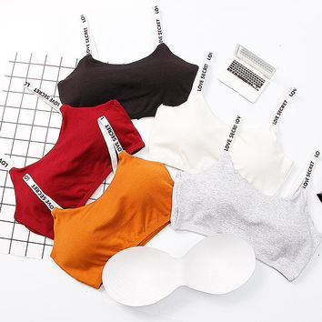 SP&CITY Sporty Style Women Sexy Bra Tops Cotton Soft Breathable Wire Free Push Up Bras Female Lingerie Girl Invisible Bra