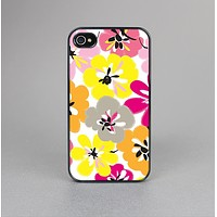 The Bright Summer Brushed Flowers  Skin-Sert Case for the Apple iPhone 4-4s