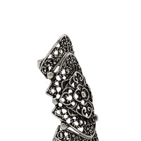 FOREVER 21 Classic Filigree Knuckle Ring Silver