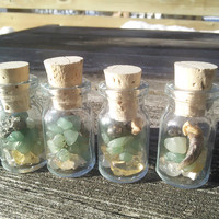 Fox Claw Bones,Money Spell Potion,Fairy Faerie Bottle Vial,Crystals,Strange Weird Curiosities taxidermy oddities, Witchcraft wiccan pagan