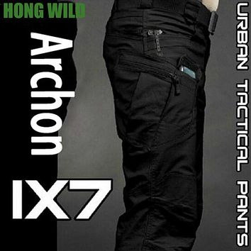 IX7 City Tactical Cargo Pants Men Combat SWAT Army Military Pants Cotton Pockets Stretch Paintball Militar Casual Trousers