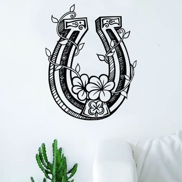 Horseshoe V3 Horse Design Animal Decal Sticker Wall Vinyl Decor Art Bedroom Room Luck Kids Teen