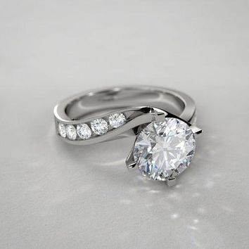 A Museum Perfect 1.7CT Russian Lab Diamond Engagement Ring
