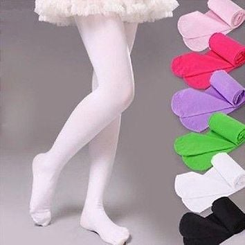 Kids Girls Baby Soft Pantyhose Tights Stockings Ballet Dance Velvet S M L