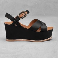 Wedge sandals | Black | & Other Stories