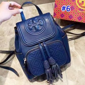 Tory Burch sells casual solid color lady's shopping bag with stylish turtleneck backpack #6