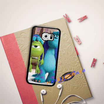 Monsters Inc sulley holding mike Samsung Galaxy S6 Edge Case Planetscase.com
