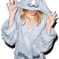 Undergirl The Big Bang Theory Cat Hooded Robe Grey One