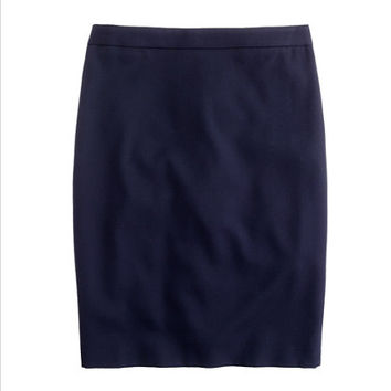 J.Crew Womens Petite Pencil Skirt In Super 120S Wool