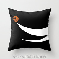Zero Nightmare Before Christmas Throw Pillow 16x16 Graphic Print Cover Halloween Autumn Fall Pumpkin Christmas White Disney Movie Tim Burton