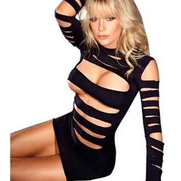 Be Wicked BWB33 Seamless long sleeve cutout mini dress