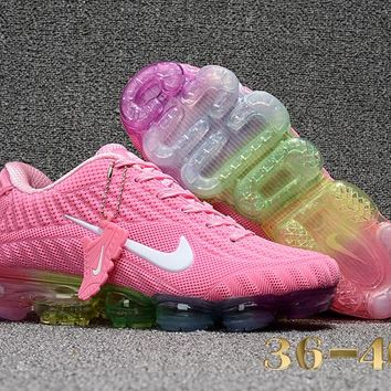 255776442f KUYOU N349 Nike Air Vapormax 2018 Flyknit Sports Casual Mid Running Shoes  Pink