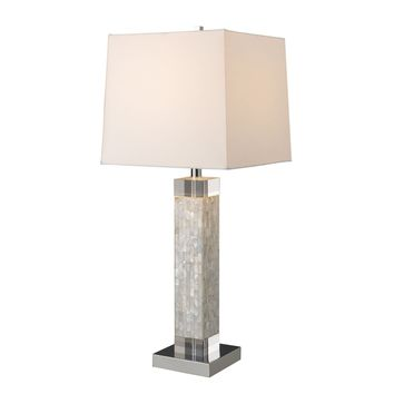 Luzerne Table Lamp In Mother Of Pearl With Milano Off White Shade Mother Of Pearl
