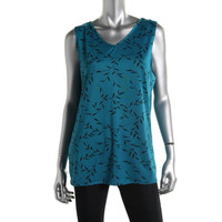 NY Collection Womens Reversible Printed Tank Top