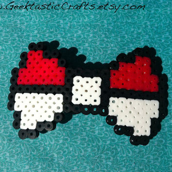 Pokeball Bow: Pick Your Pokeball Perler Bow