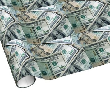 Funny Dollar Bills Cool Money Cash Gift Wrapping Paper