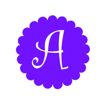 """Vinyl Monogram Decal 3"""", 4"""", 5"""", 6"""" 7"""" or 8"""" Choice of color, font & design."""