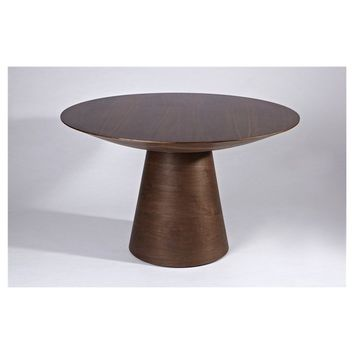 Modern Scandinavian Round Walnut Juho Round Dining Table