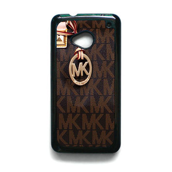 Michael Kors Logo Brown iPhone 5C HTC One M7 Case