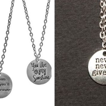 Inspiration Charm Necklaces-6 Designs-Perfect Holiday Gifts