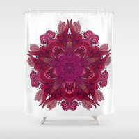 Indian Mandala 01 Shower Curtain by Aloke Design