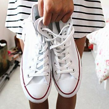 """Converse"" Fashion Canvas Flats Sneakers Sport Shoes High tops"