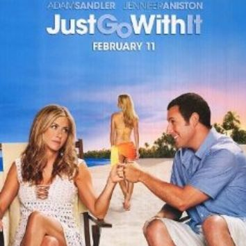 JUST GO WITH IT MOVIE POSTER 1 Sided ORIGINAL 27x40 ADAM SANDLER